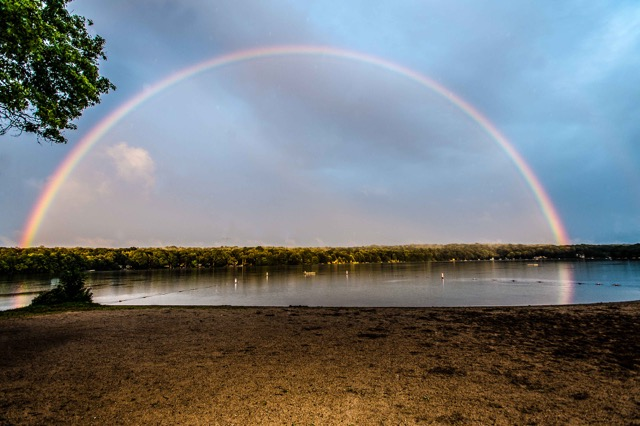 Rainbow over Lake Hayward